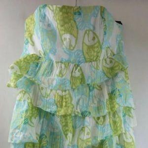 Off The Hook Arden Chiffon Multi Tier Dress, 8